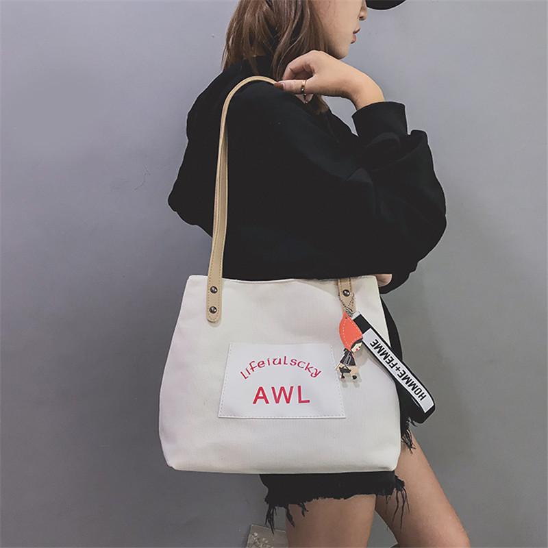 Women Canvas Handbag Fashion Designer Ladies Letter Crossbody Messenger Shoulder Bag Female Fashion Purse Sac A Main SS7382 (4)