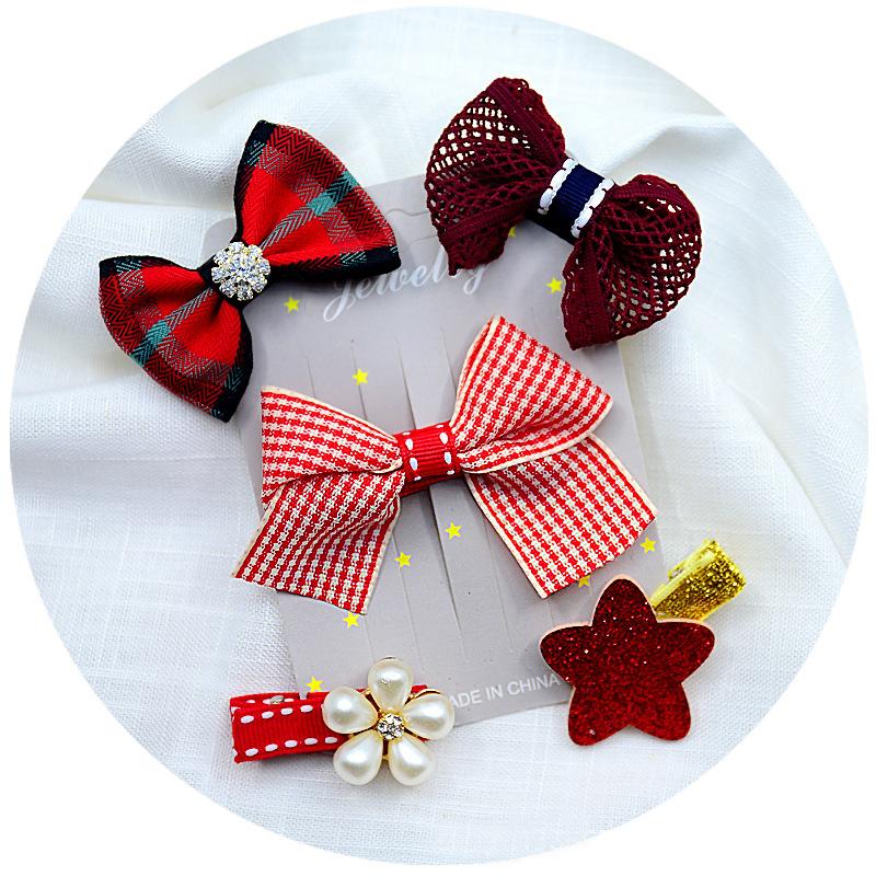 Детские заколки для волос милые цветы бантом корона аксессуары для волос классические костюмы серии для детей девочек шпилька заколка головной убор