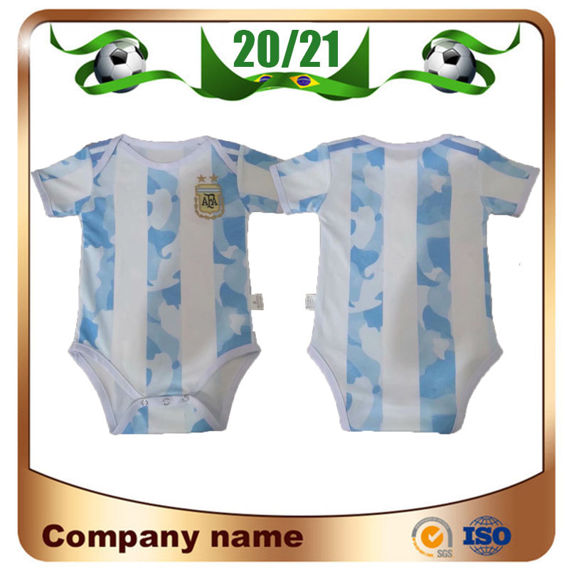 20/21 Argentina Americas Cup Home 2020 Baby Kids Kit Argentina Soccer Jersey 10 Messi Football Clothes 9-18 Months Shirt Uniforms