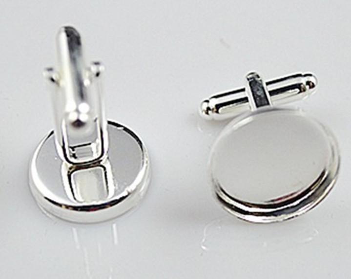 high quality sterling silver cufflink base, cufflink blank, cufflink size16MM