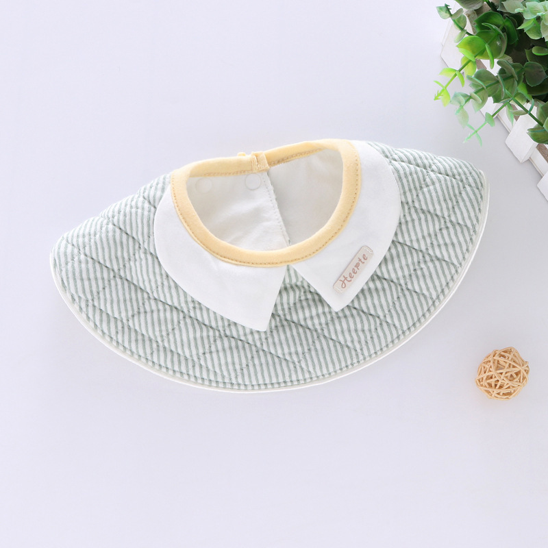 100% Cotton Waterproof Baby Bibs Fashion Round Neck Baby Girls Bibs 360 Degree Flower Star Bib For Girls Baby Girls Clothing (7)