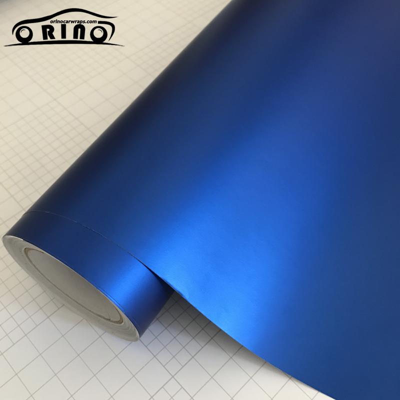 Blue Metallic Chrome Vinyl Wrap Film-2