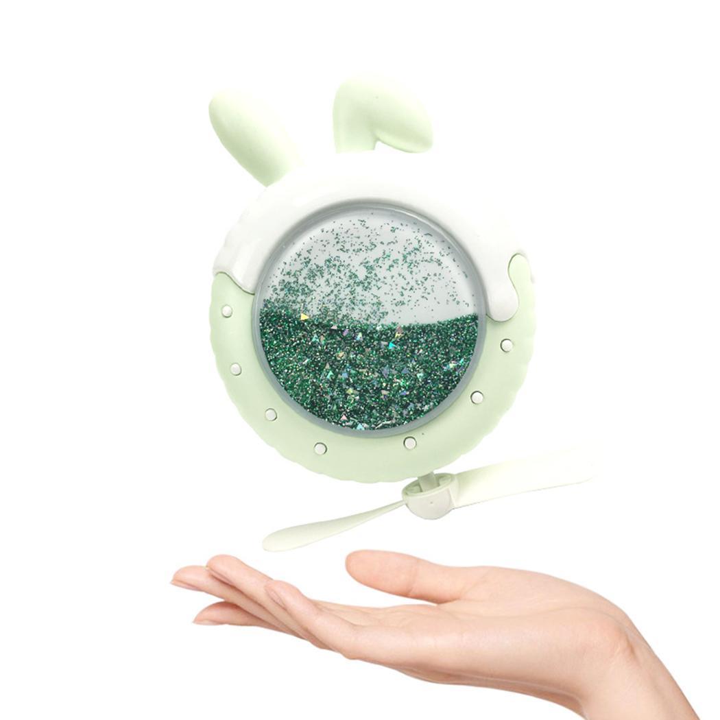 Mode Nouveau Créatif Mini Fan Bande Dessinée Forme Animale Night Light Sable Rapide Double Ailes USB Ventilateur Nouveau Traitement De L'Air Appareils