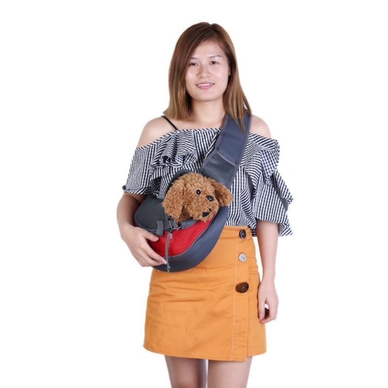 Pet Dog Carrier Cat Carrying Small Animal Sling Carrier Bag for Small Dogs Cat Carrying Backpack Mesh Pets Travel Bags D19011201