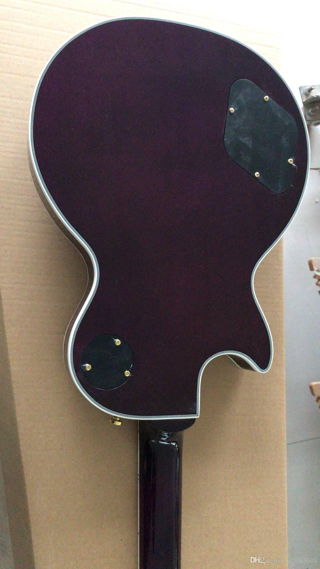 ! Wholesale Custom 6 String Electric Guitar in purple .rosewood fringerwood, hot selling Musical instrument,180315