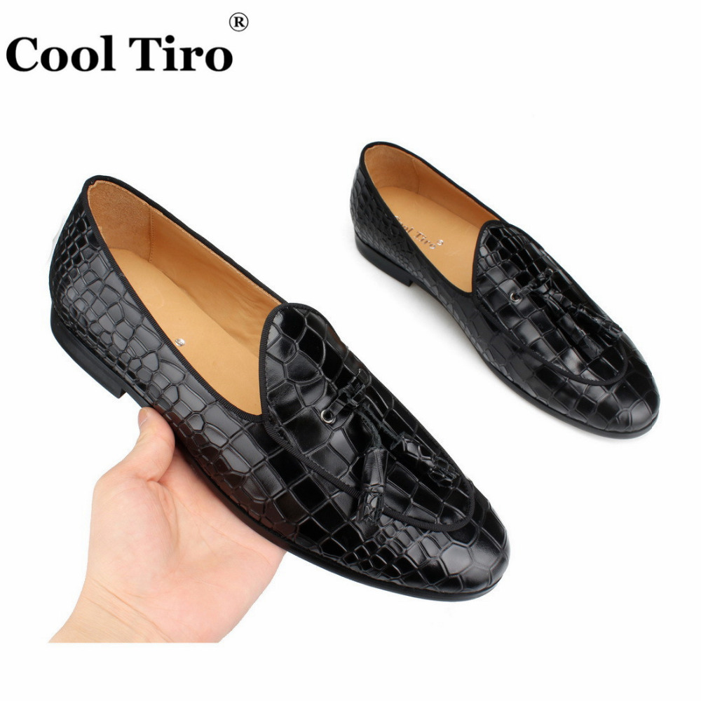 black CROCODILE LOAFERS WITH TASSELS (5)