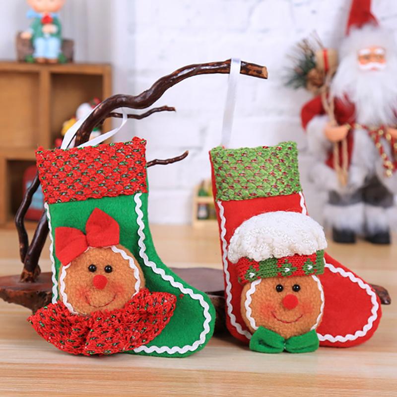 Niño Niños Navidad Caramelo Tarro Botella De Almacenamiento Bolsa De Santa Navidad Caja Dulce LH