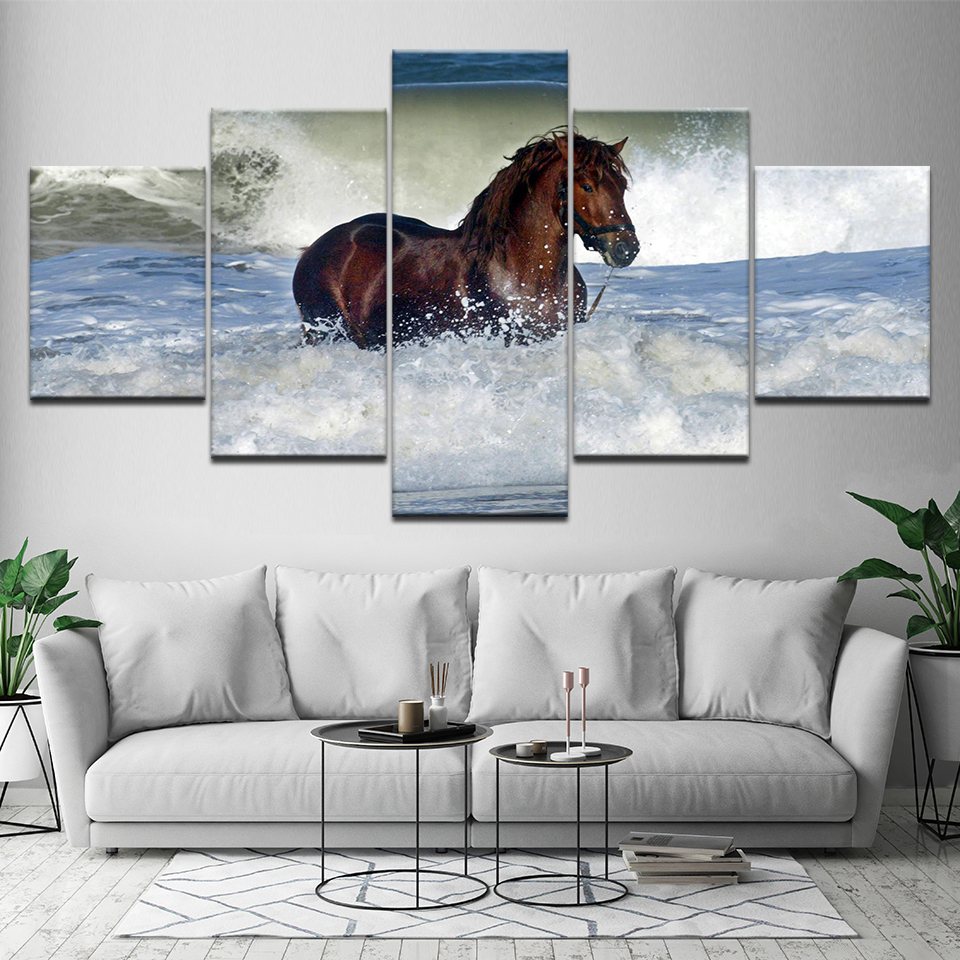 Modern Poster HD Horse Animal Canvas Painting Printing Wall Pictures Modular Artwork Vintage Home Living Room Decoration