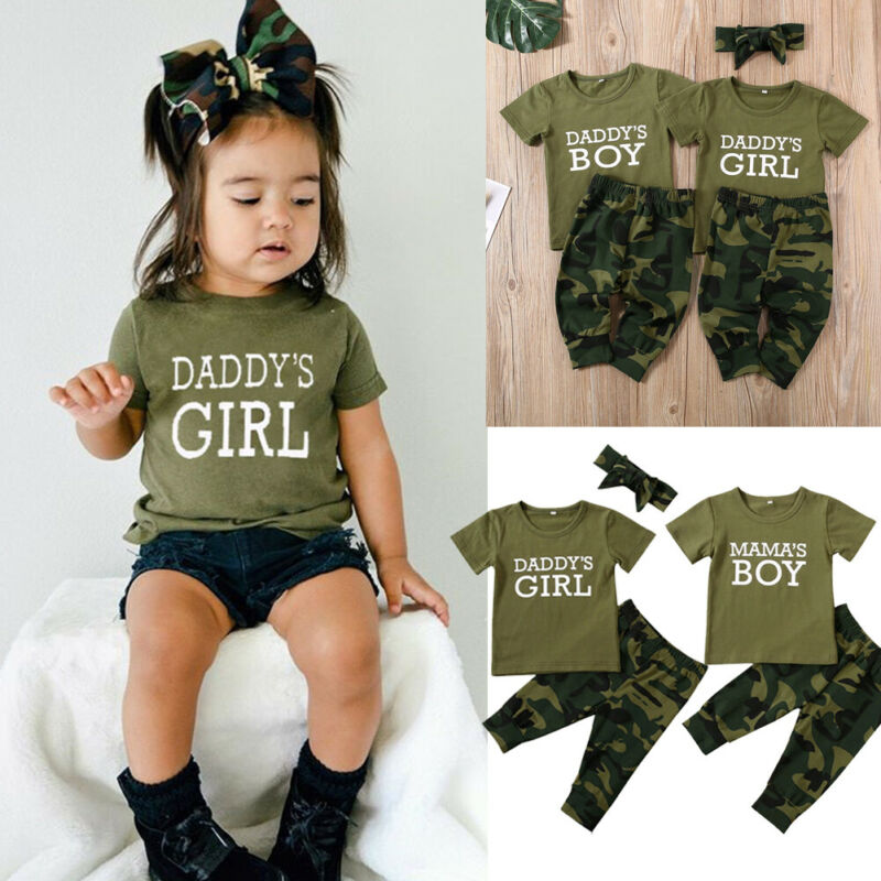 Baby Babies New Girls Camo Army Skater Print Short Summer Sleeveless Pink Dress