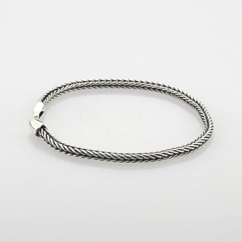 Rubyca Argent Chaîne Serpent Bracelet breloque HOMARD Fit Européen Grand Trou Perles