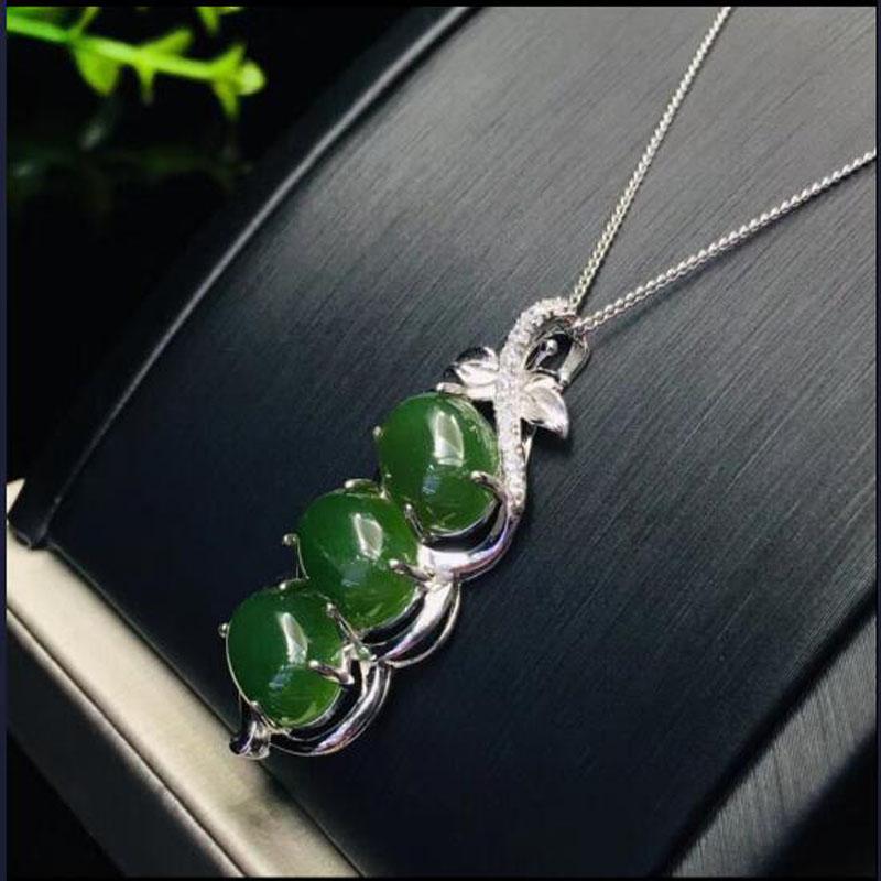 Chinese Hetian Black Green Jade Hand Grinding 8 PCS Beads Men/'s Bracelet Bangle