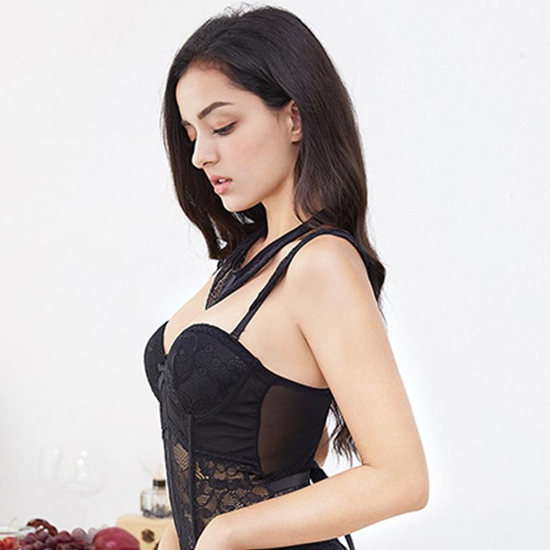 Atacado das mulheres novas sexy lace forma arco colete conjunto de lingerie empurrar para cima conjuntos de sutiã respirável