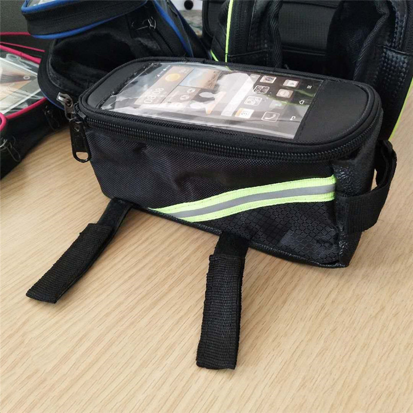 Waterproof Bicycle Bag Bike Front Top Frame Handlebar Bag basket For Cellphone bike accessories Cycling Safety Equipment #2a (7)