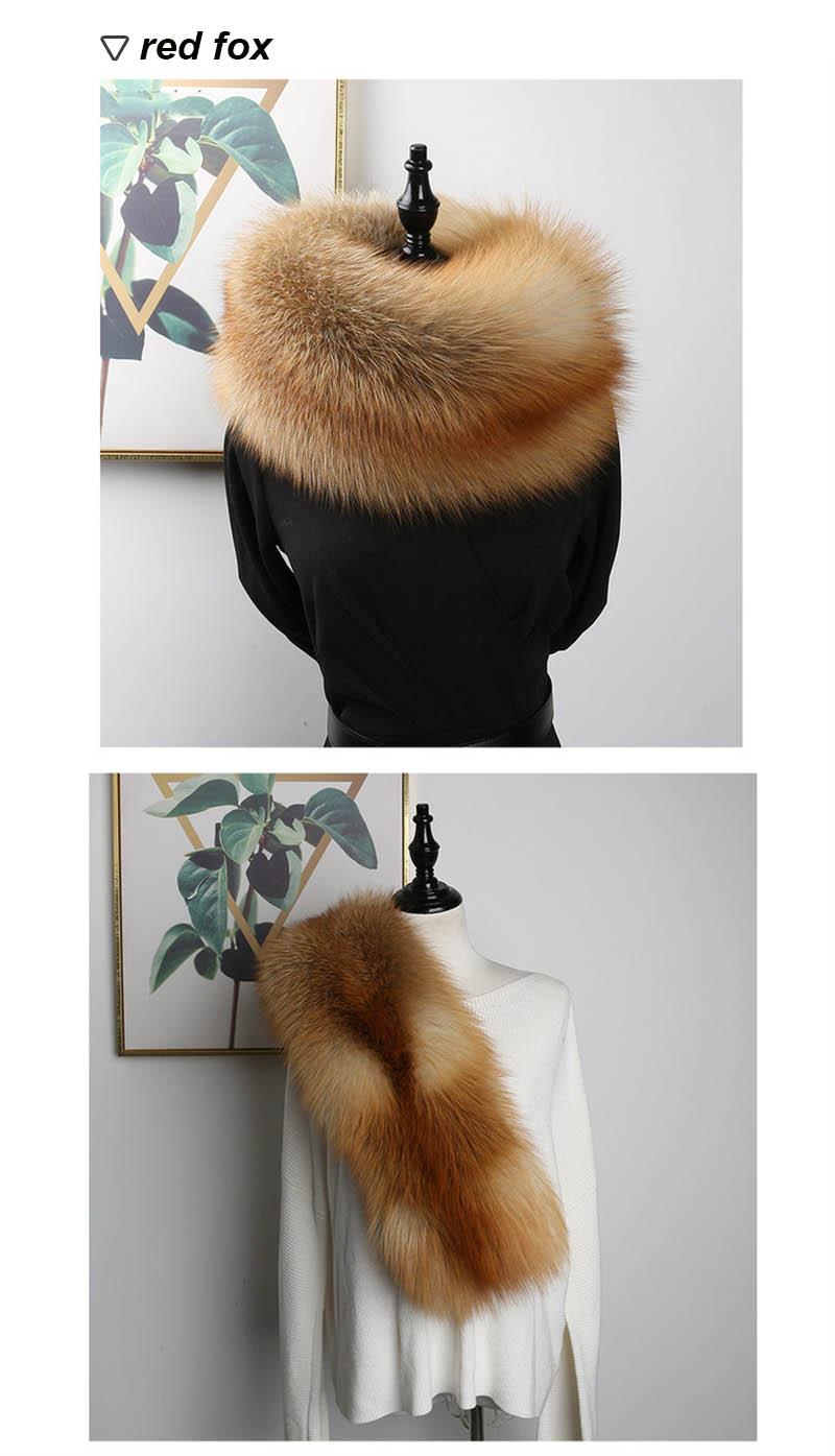 fox fur scarf silver fox 3