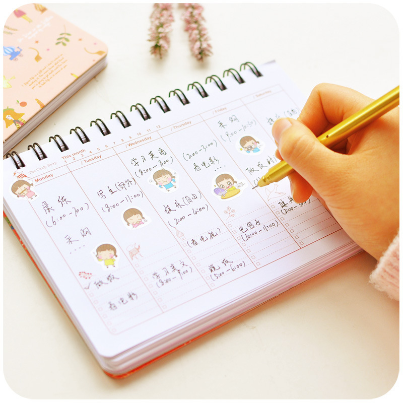 2019 My Neighbor Totoro Planner Totoro Diary Chinchilla Book Learning Efficiency Plan Planner Coil Book Notebook Calendar