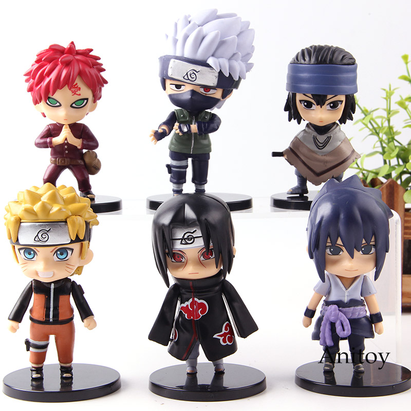 Anime Naruto Shippuden Hatake Kakashi Gaara Uchiha Itachi Sasuke Uzumaki Naruto Action Figure Collection Model Toys