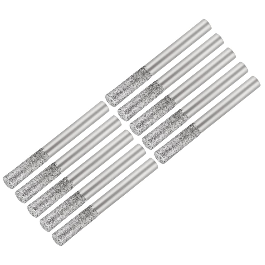 uxcell Diamond Burrs Grinding Drill Bits for Carving Rotary Tool 1//4-Inch Shank 6mm Pointed 150 Grit 2 Pcs