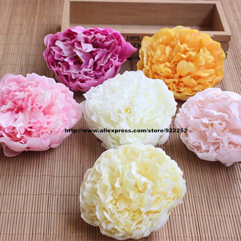 "9.5/"" Peony Silk Flower Bouquet pack of 12 Coral"