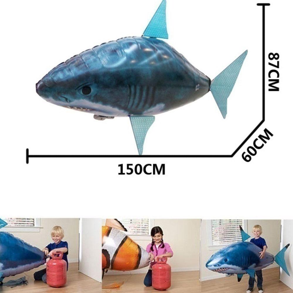 En gros RC Télécommande Jouets Ballon Drôle Ordinaire Gonflable Requin Poisson De Clown Poisson Pour Enfants Cadeau