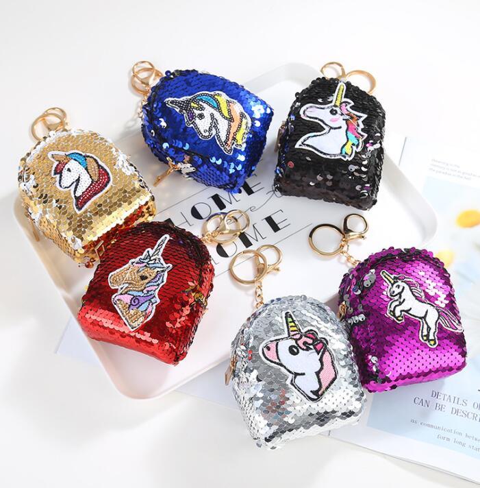 Fashion Womens Coin Purse Unicorn s Hearts Vintage Pouch Kiss-lock Mini Purse Wallets