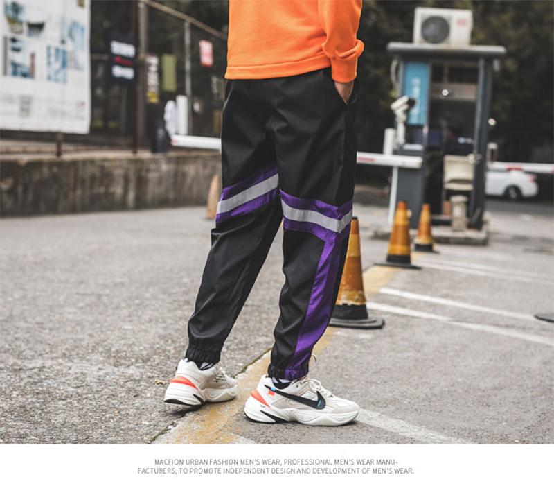 Loose Hip Hop Cargo Pants Men Camouflage Patchwork Harem Mens Trousers Streetwear (50)