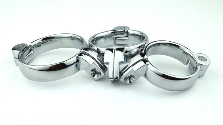 suministros adultos fuera de combate de acero inoxidable macho cinturón de castidad cierre broche, anillo de pene, anillo de la manga del pene para dispositivo de castidad