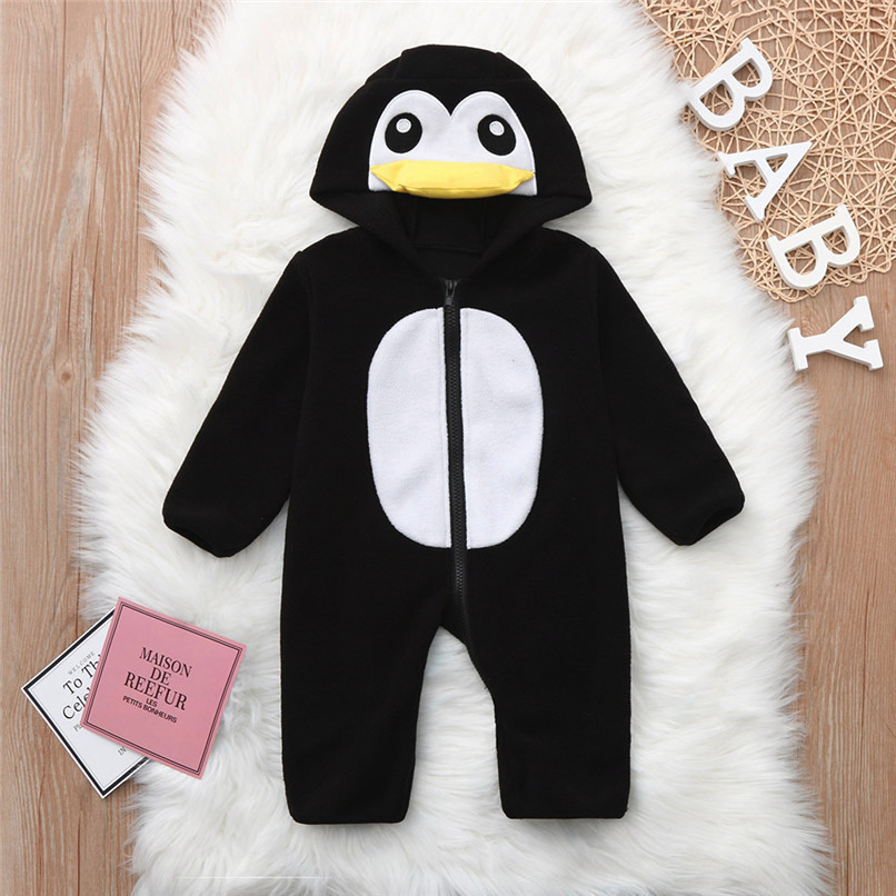 Baby Romper Newborn Baby costume Infant Boy Girl Long Sleeve Cartoon Warm Hoodie Jumpsuit Romper Clothes baby clothes D21 (2)