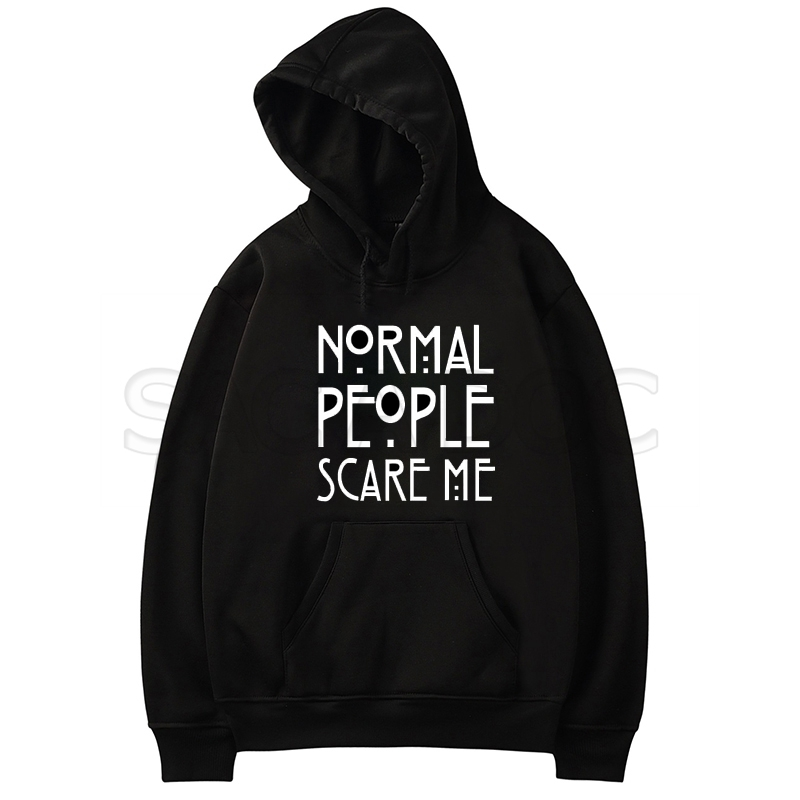 American Horror Story AHS Normal People Hooded Sweater Black