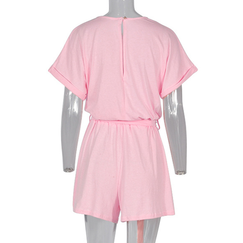 Forefair Linen Shorts Jumpsuit Summer Wide Leg (11)