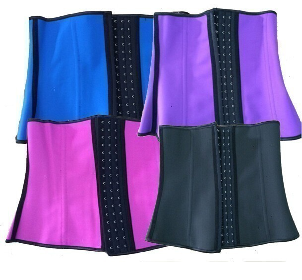 8112 colorful 4 steel bone latex waist cincher