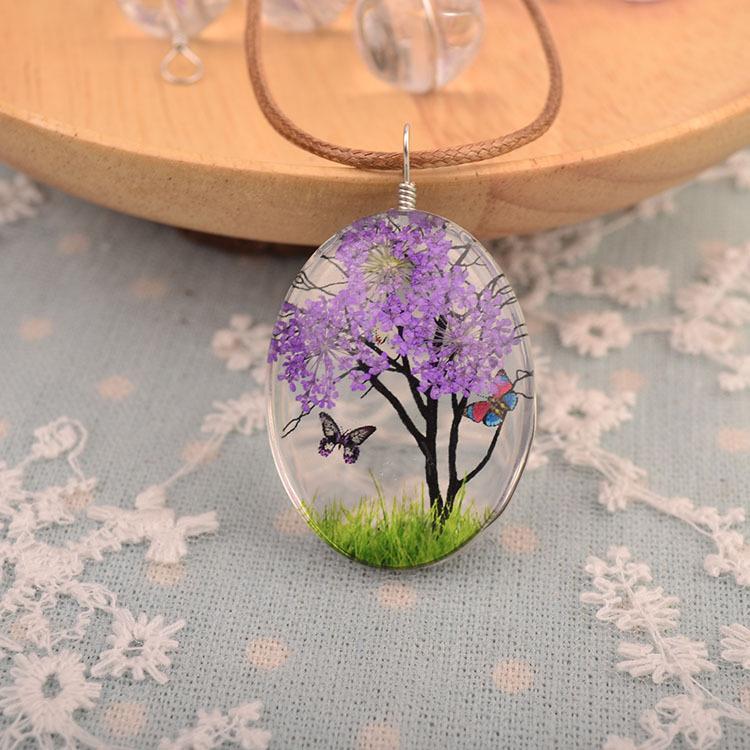 12 natürliche getrocknete Blume gepresste Pflanze für Halskette Schmuck