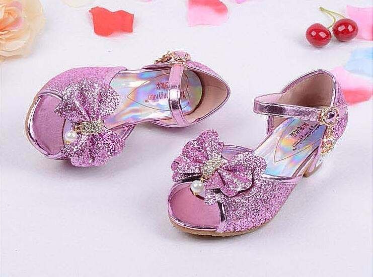 Girls Princess Leather Shoes-19-1