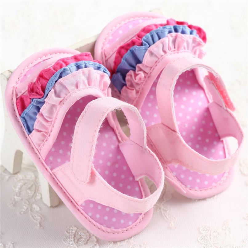 Summer Baby Girl Sandals Toddler Newborn Baby Girl Crib Flower Soft Sole Anti-slip Sneakers Canvas Sandals NDA84L25 (11)