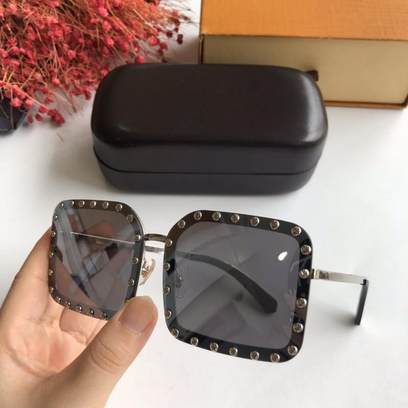 Femmes Lunettes de soleil-surdimensionné argent rond miroir lentille-SG0006