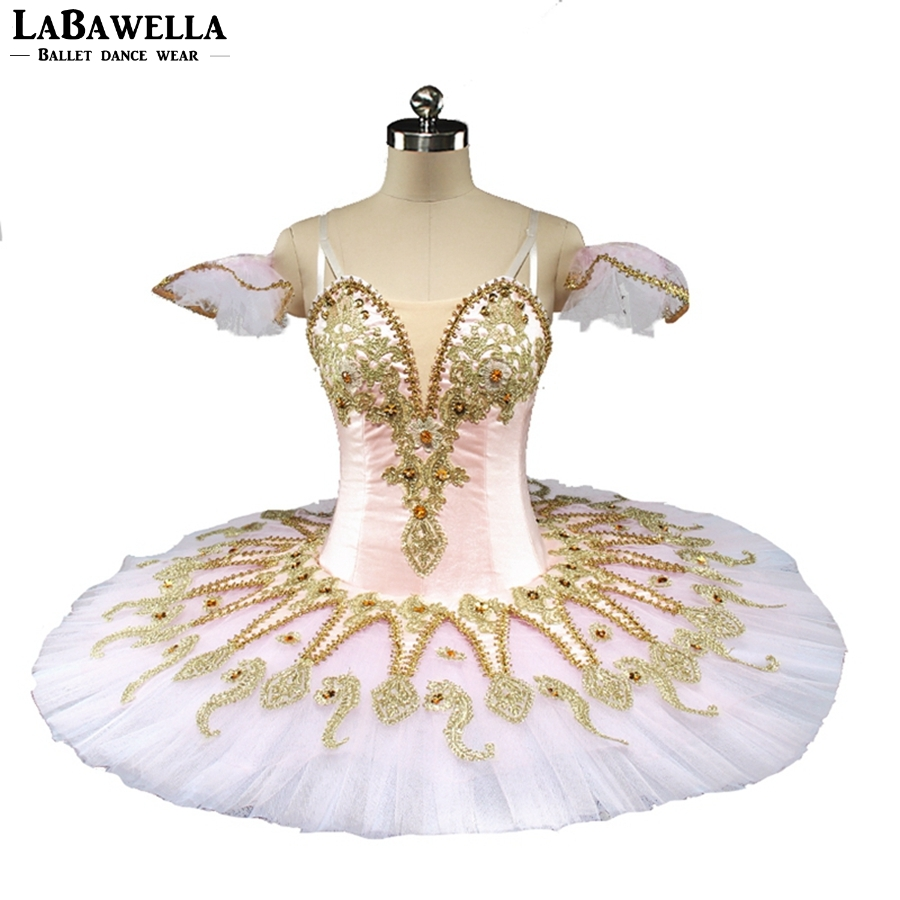 Adult Kids Professional Ballet Pancake Pink Golden Tims Classic Ballet Costume