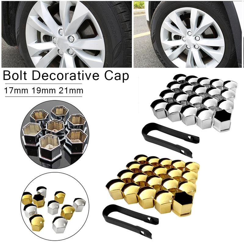 20pc Universal 17//19//21mm Silicone Wheel Lug Nut Bolt Hub Screw Cover Protective