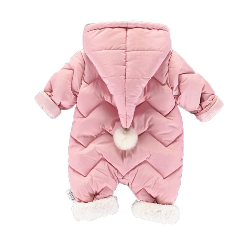 CROAL CHERIE 60-100cm Baby Winter Girls Boys Clothes Warm Fleece Velvet Newborn Baby Romper Infant Costume Pink Sky Blue (1)