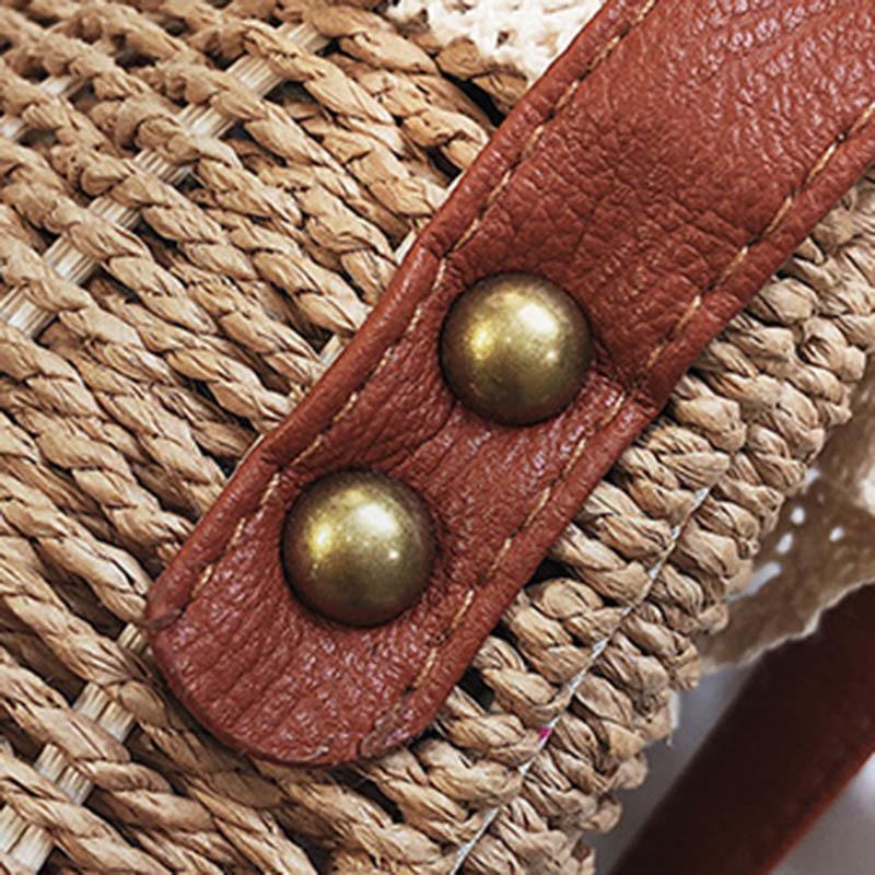 Women Lace Straw Bags INS Popular Female Holiday Handbag Summer Hot Lady Weave Shoulder Bag Travel Beach Casual Bolsa SS3150 (2)