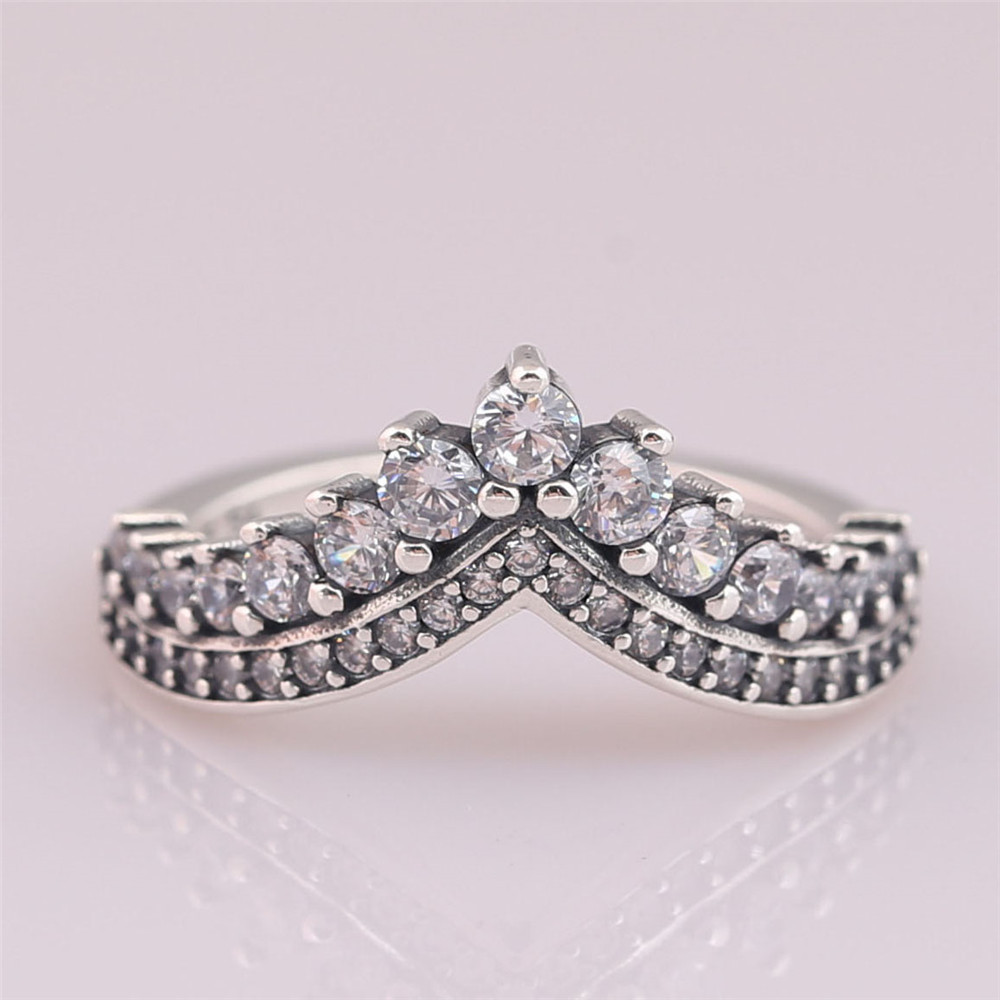 P-D-2103 (1)Princess Wish Ring, Clear CZ
