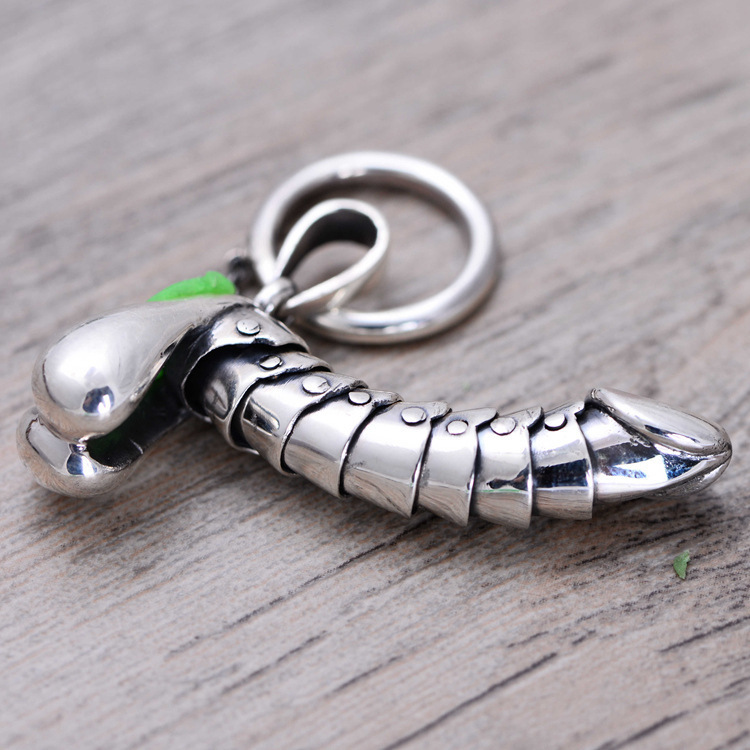 925 Sterling Silver Activityable Fun Men Penis Cock Dildos Dick Tit Necklace Pendant Thai Silver Fine Jewelry Gift Ch023639 J190519