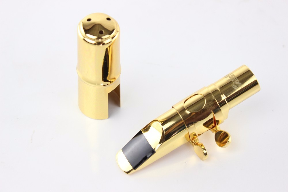 Dukoff Bb Tenor Saxophone Metal Mouthpiece Gold And Silver Plated Jazz Sax Mouthpiece Size 5 6 7 8 9 B Flat Saxophone Instrument Accessories