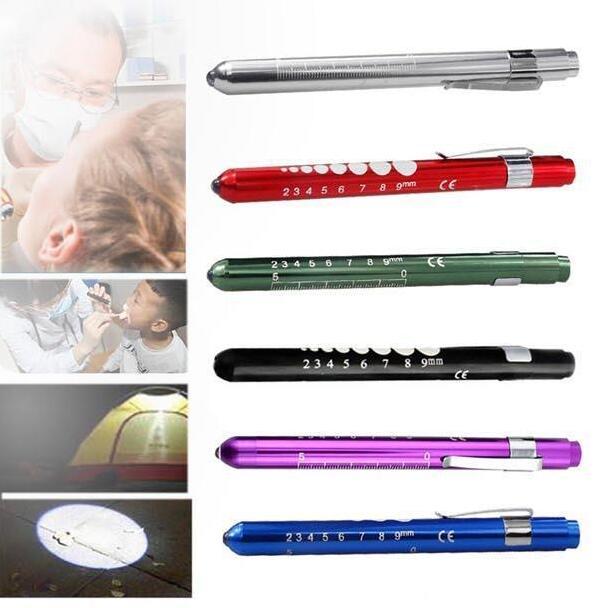 First Aid LED Pen Light Flashlight Torch Doctor EMT Medical Emergency Lamp US