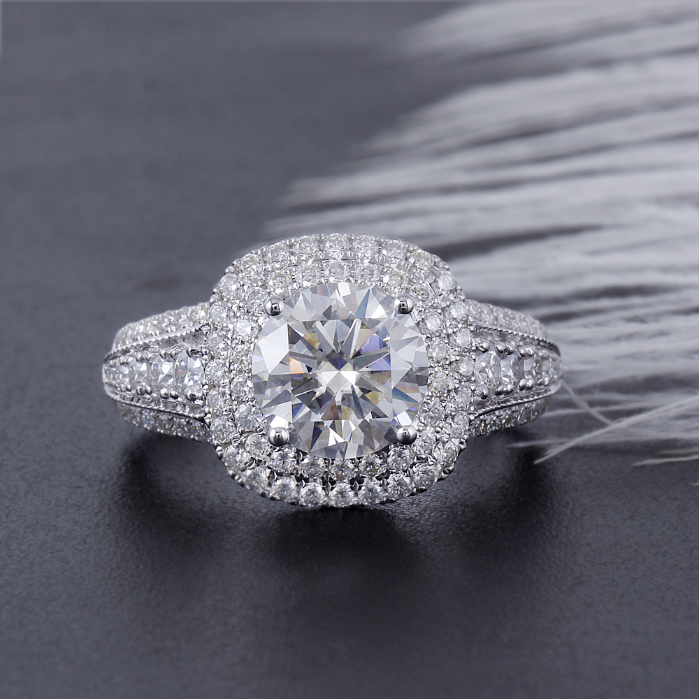 moissanite double halo engagement ring (2)
