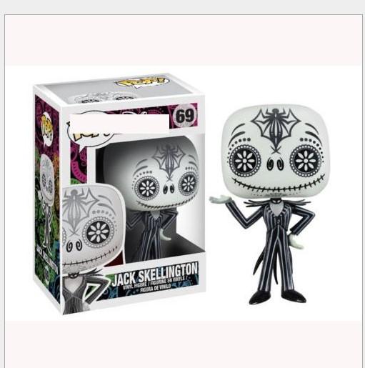 Auto Dekorationen Skeleton Action-Figur Kopf sch/ütteln Puppe Armaturenbrett Dekoration der Albtraum vor Weihnachten Spielzeug
