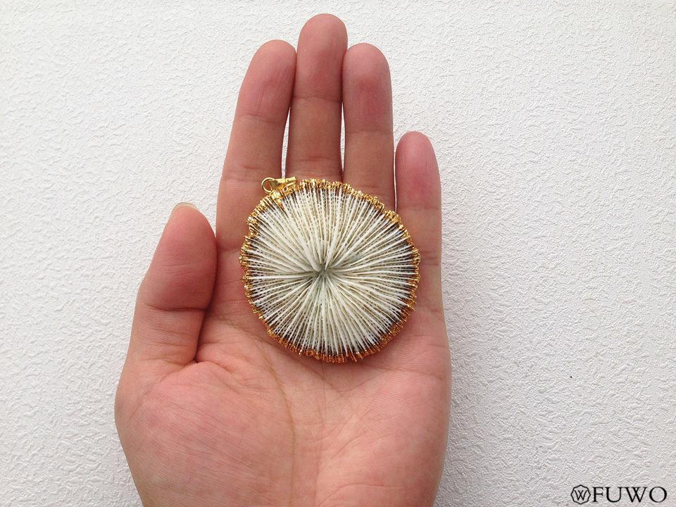 White Coral Pendant 11