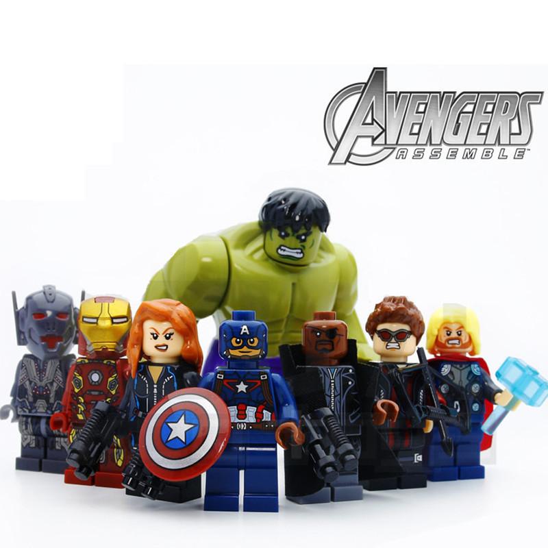 8pcs-lot-Legoings-The-Avengers-Hulk-Thor-Captain-Iron-man-Black-Widow-Building-Blocks-Kit-Toys