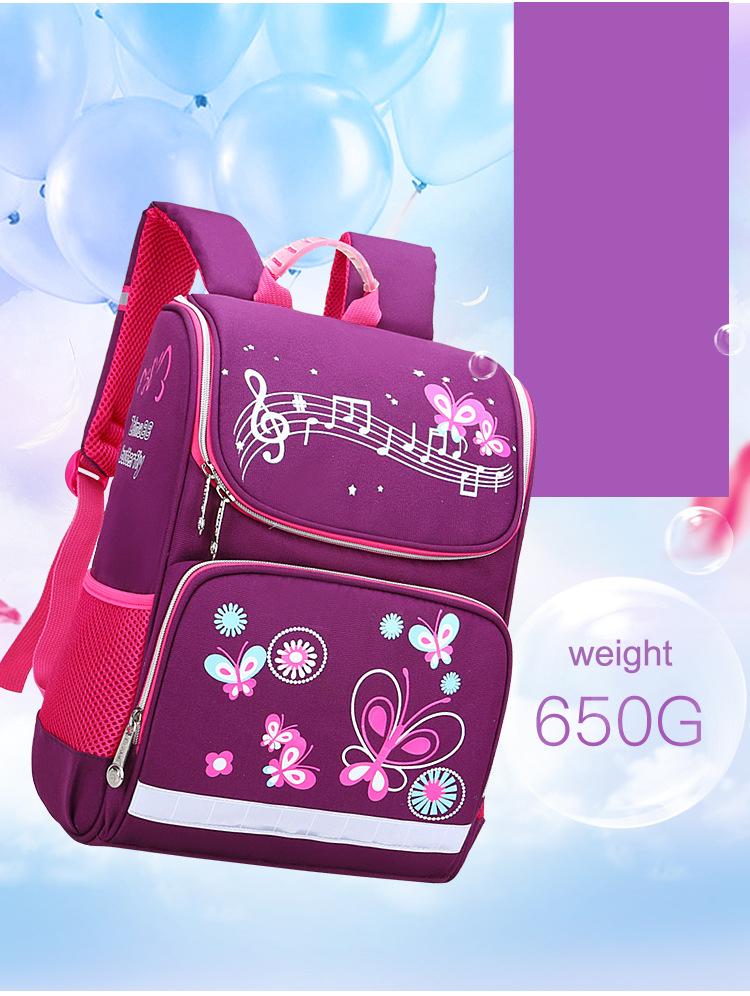 Children School Bags Backpack Space Bag Girls Boys 2019 New Butterfly Car Kids