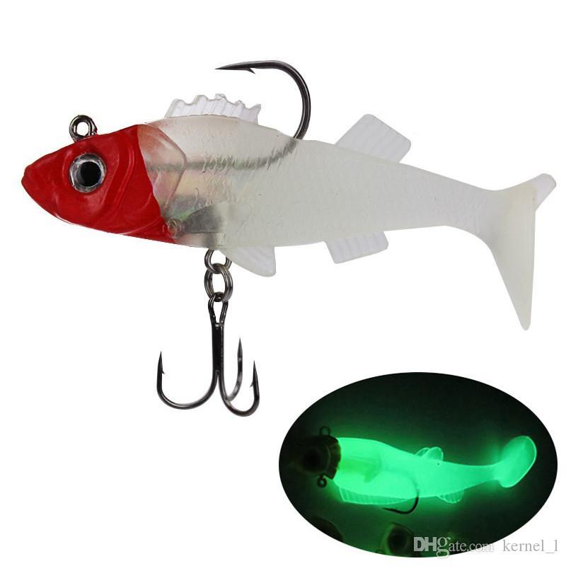 3Pcs Luminous Artificial Imitation Squid Lure Baits String Hook Fishing Tackles