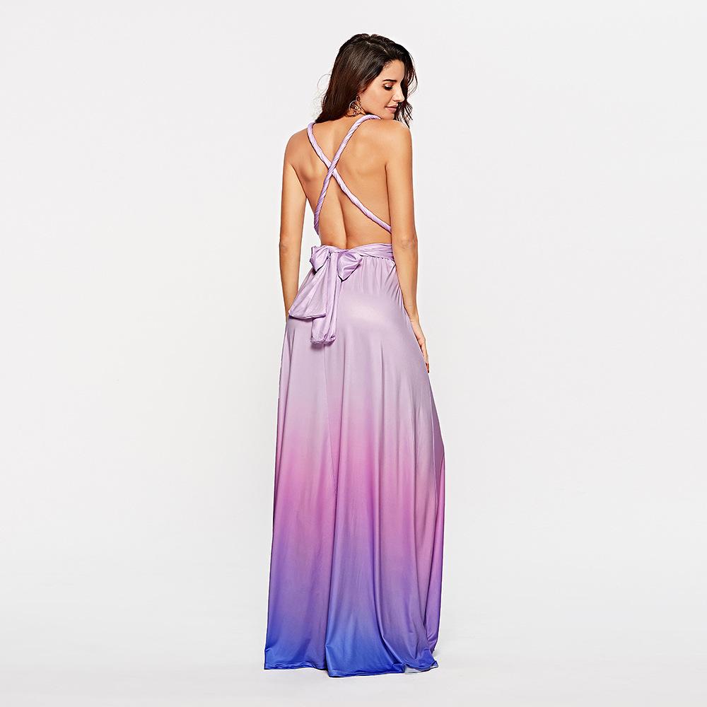 Venflon 15 Ways Bandage Women Summer Dress 2019 Sexy Backless Beach Maxi Desses Elegant Evening Long Party Dress Female Vestidos Y190507