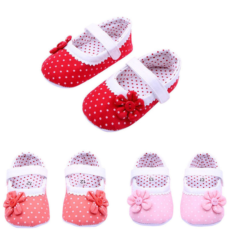 Summer Baby Girls Shoes Flower Soft Sole Cotton cloth Crib Shoes NDA84L17 (1)